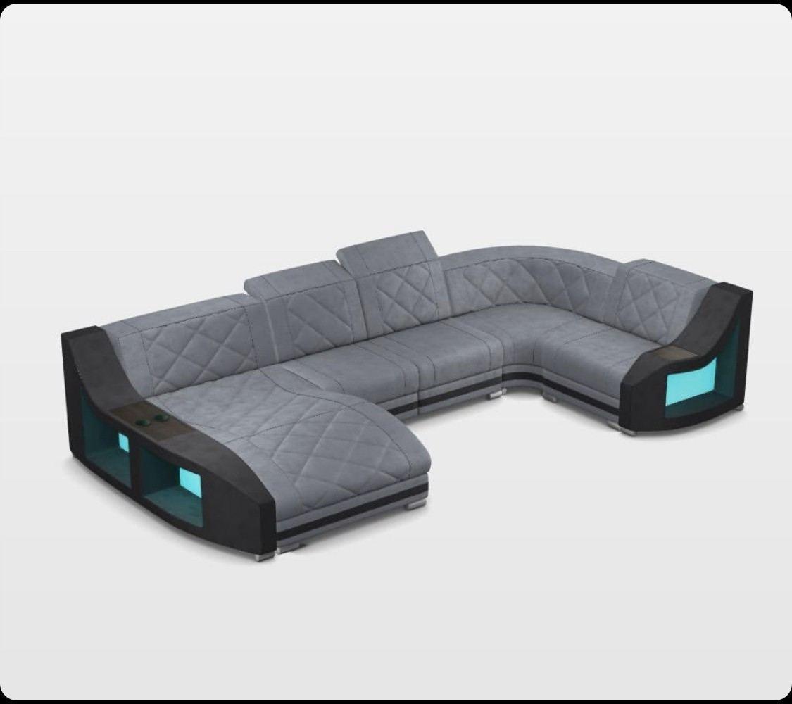 Design Sectional Palm Beach U Shape fabric sofa