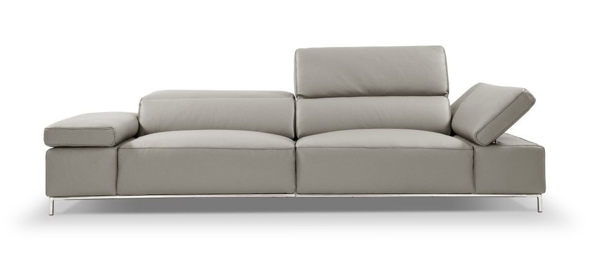 Italian Leather Sectional Mano grey