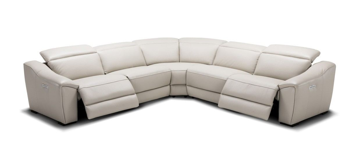 Motion Recliner Sofa Set Maggio silver grey