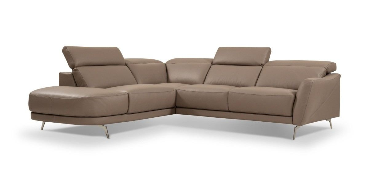 Sectional Leather Sofa Umberto - taupe