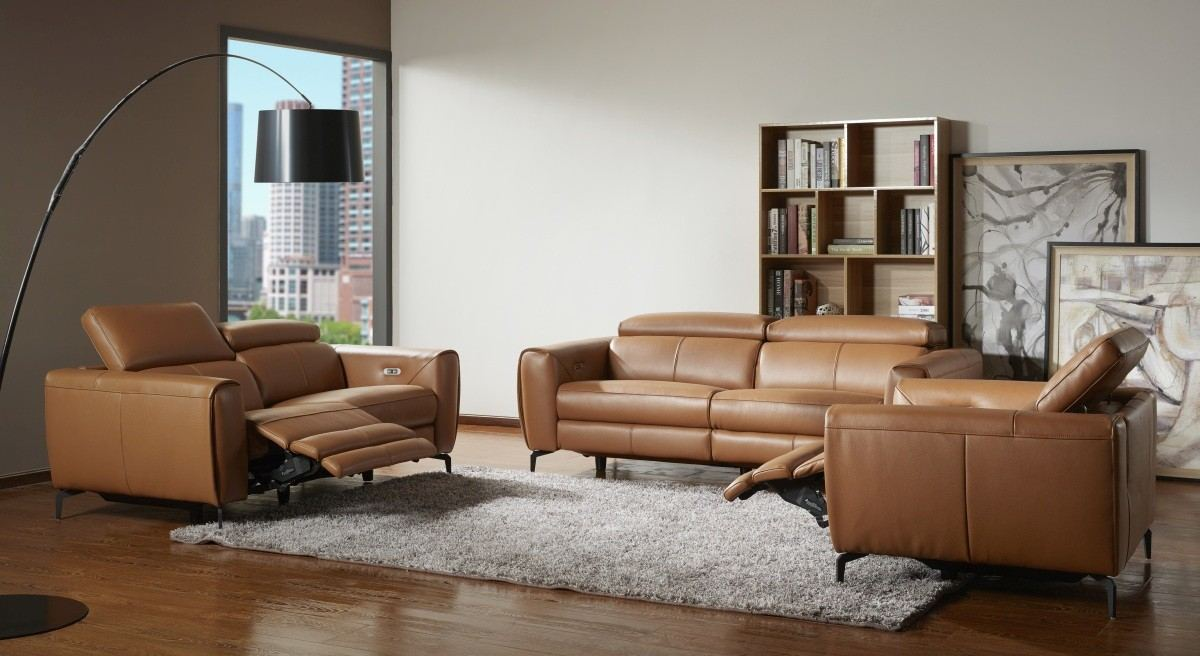 Motion Recliner Sofa and Loveseat Massimo - caramel