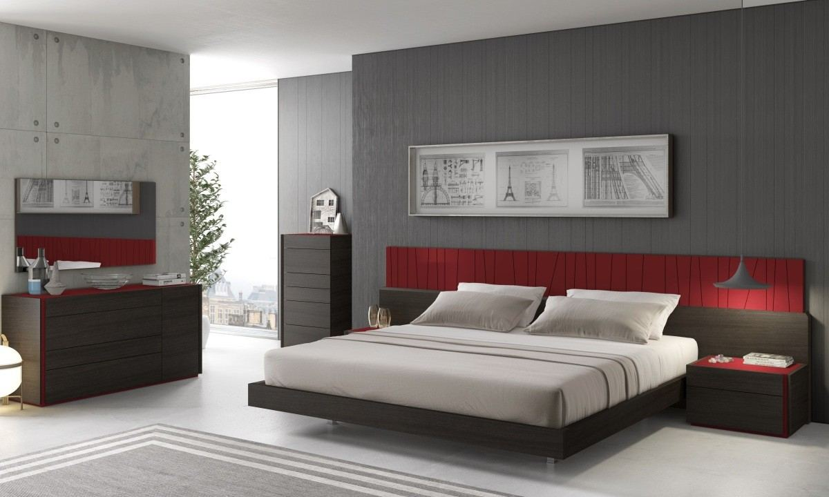 Bedroom Set Salerno grey-red