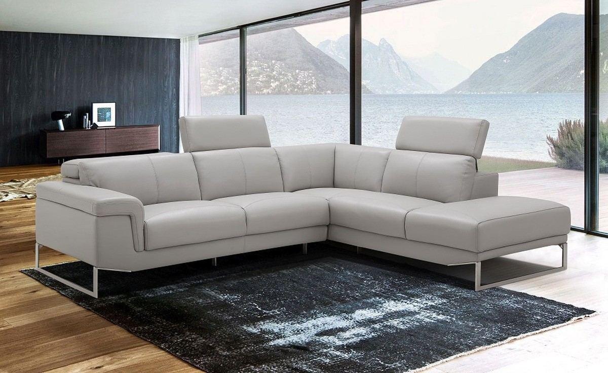 Sectional Sofa Leather Arturo white