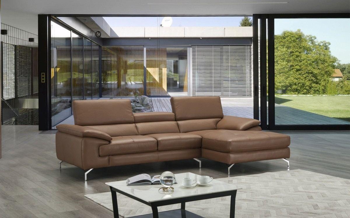 Sectional Leather Sofa Agostino caramel