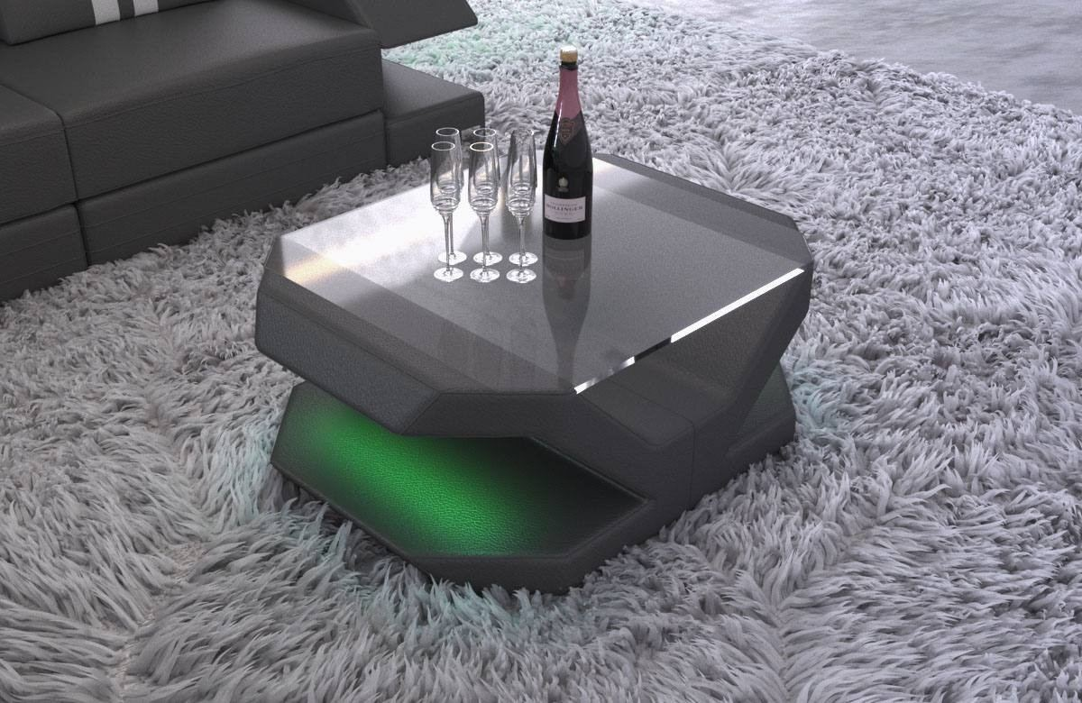 Luxury leather coffee table Beverly Hills