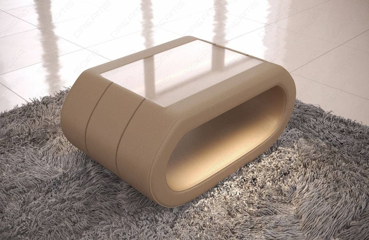 Leather Coffee Table Concept with LED lights