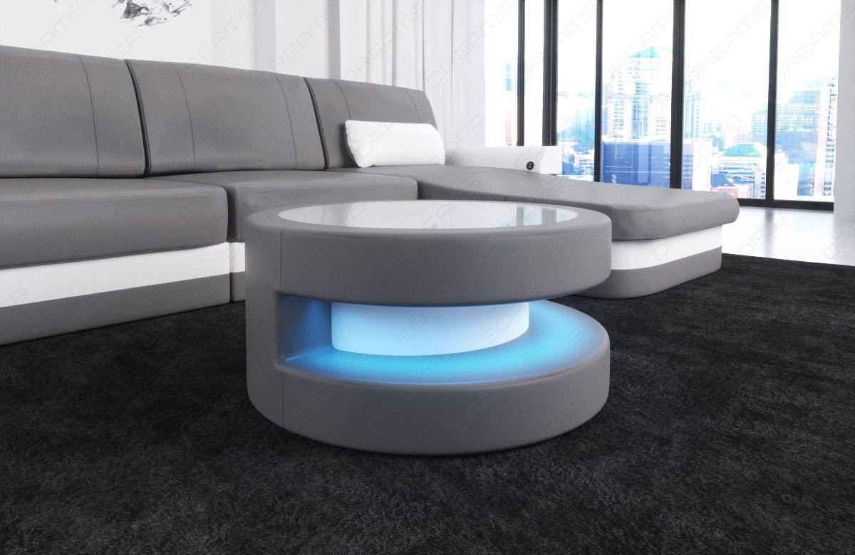 Leather Coffee Table Tampa with LED