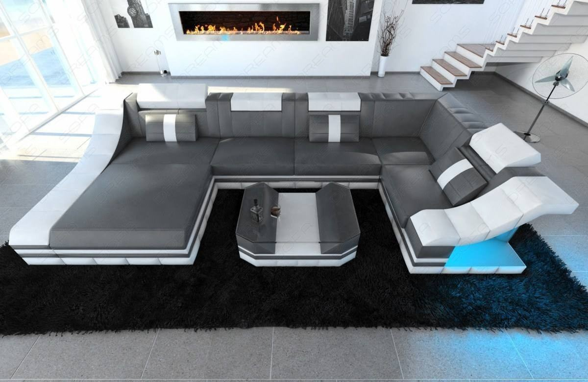 Design Sectional Sofa New York U Shape LED