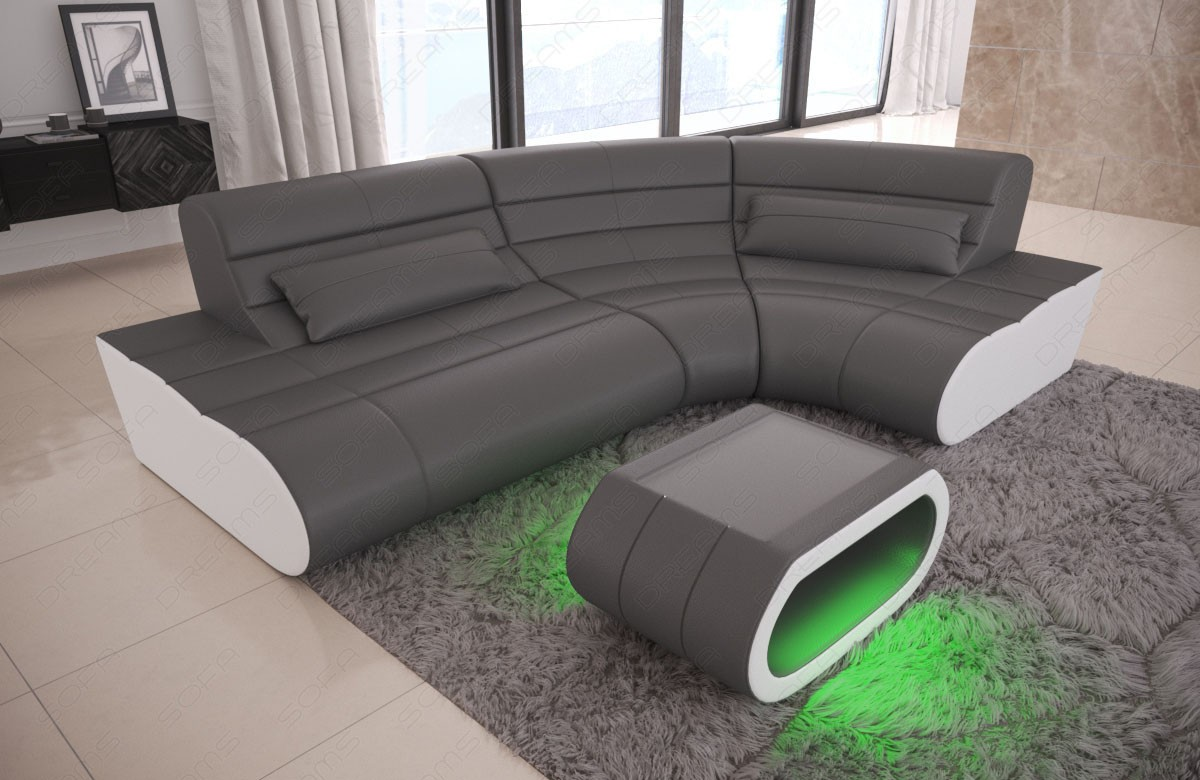 Design Sofa Sectional Concept L Shape - grey-white