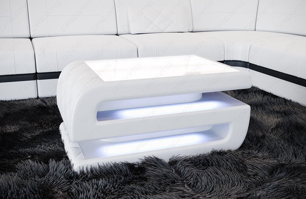 Coffee Table Leather Gainesville white