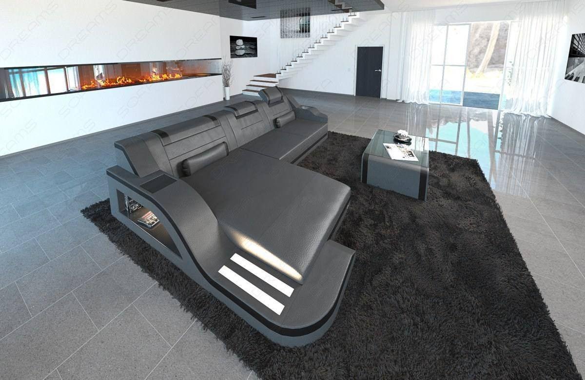 Design Sectional Sofa Detroit LED L Shape