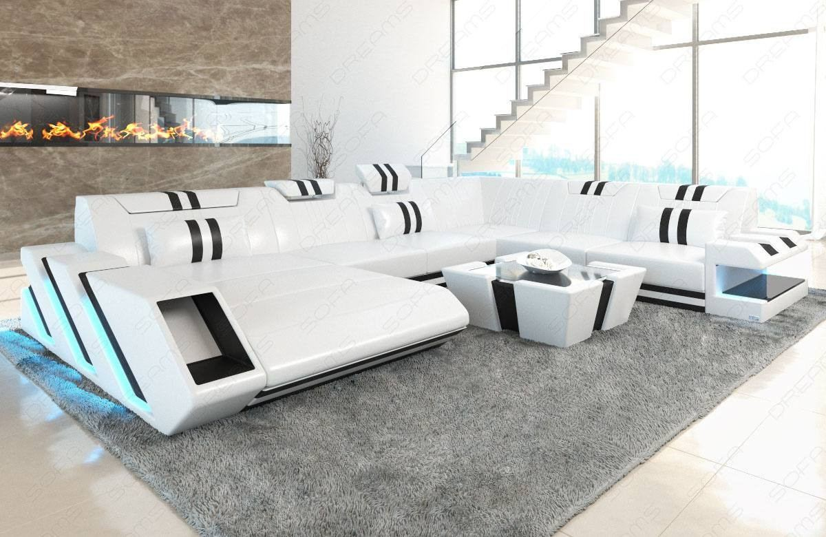 Leather Sofa New Jersey XL with LED
