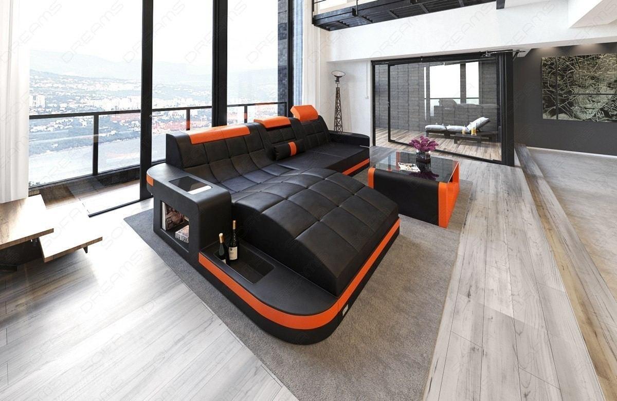 Jacksonville L Shape in black orange