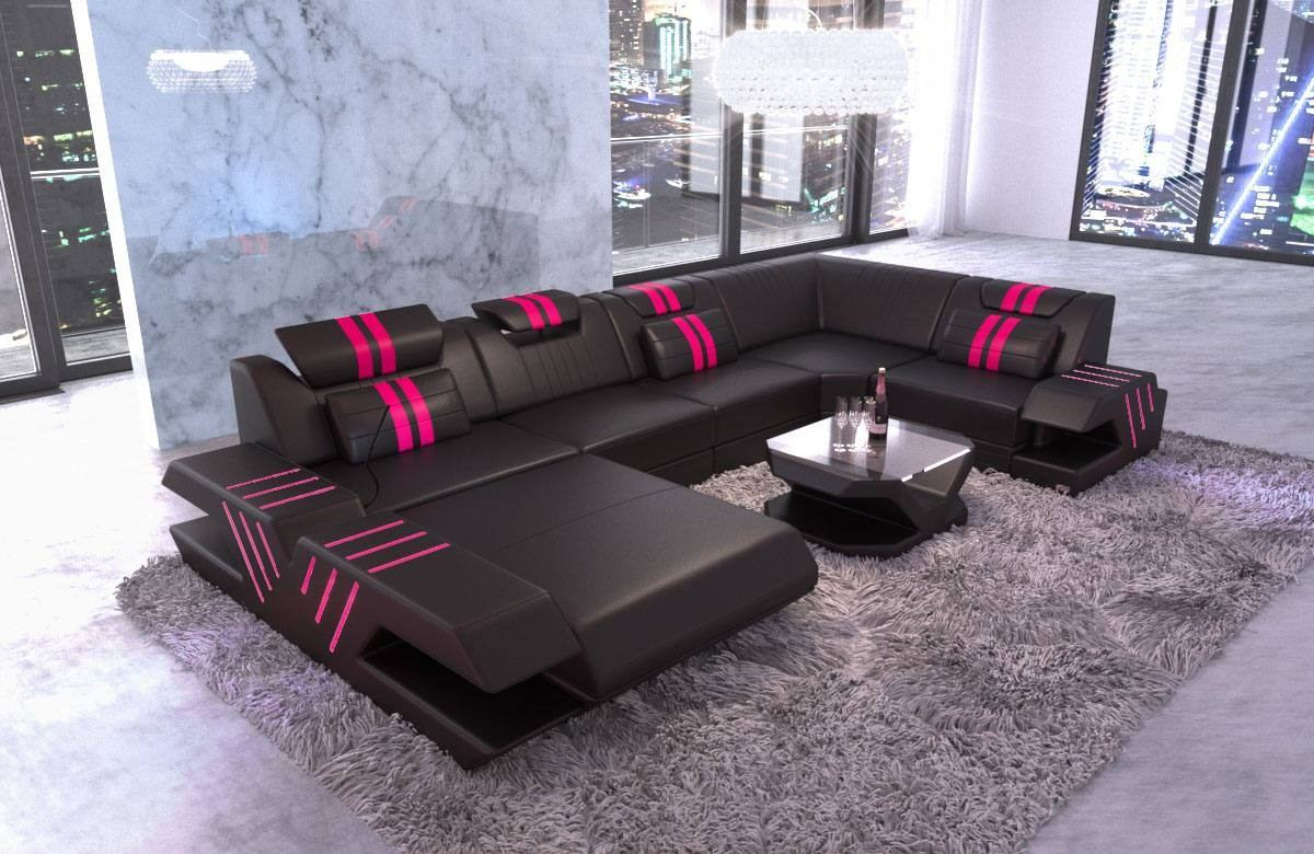 Design Leather Sofa Beverly Hills U Shape
