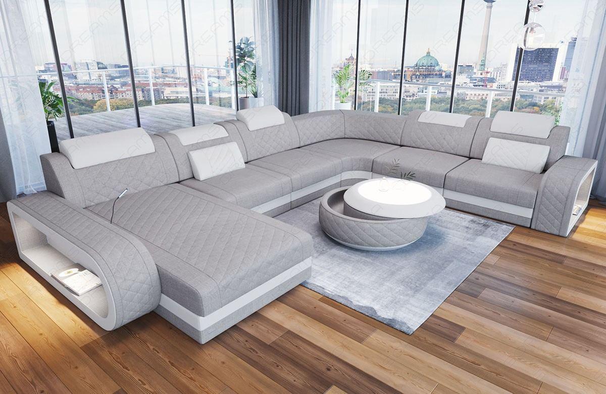 Fabric Luxury Sofa Charlotte in Hugo2 - Ivory