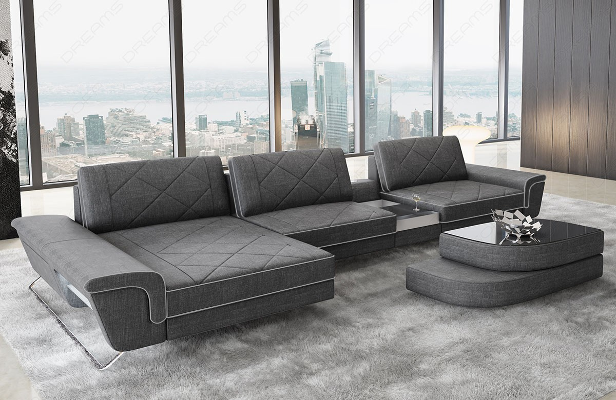 Sectional Fabric Sofa Las Vegas L Shape fabric grey hugo 5