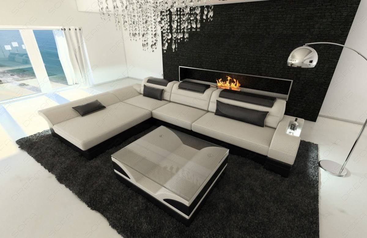 Fabric Sofa Atlanta L Shape LED