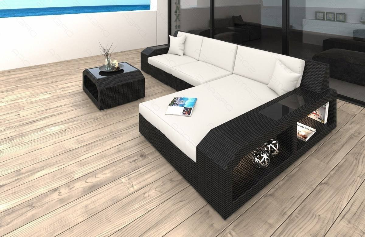Wicker Patio Sofa Houston L in white