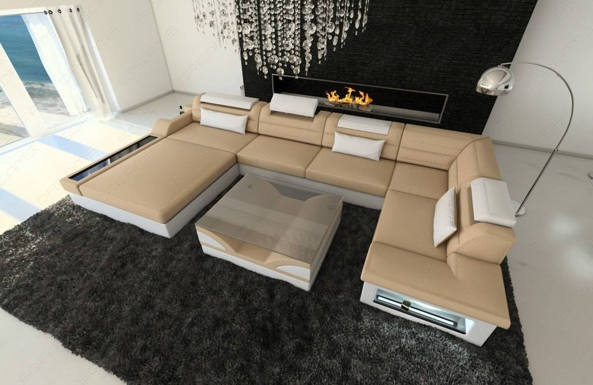 modern sectional fabric sofa beige Mineva 4