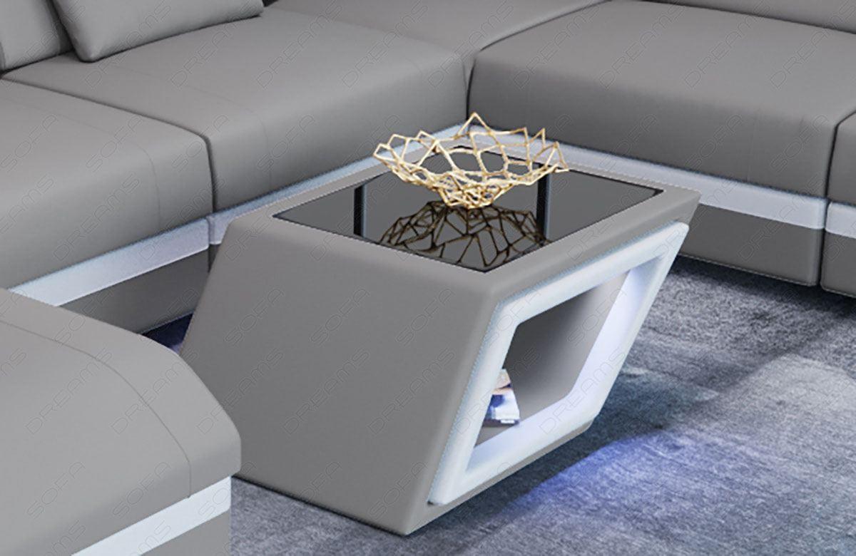 Fabric coffee table Nashville in microfibre 12 - lightgrey