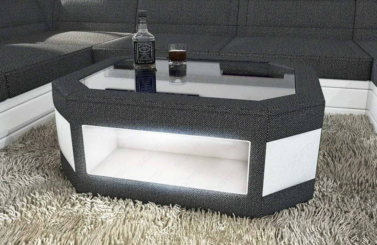 Fabric Mix Coffee Table Dallas with LED