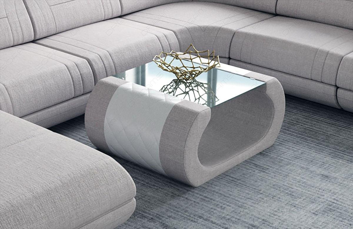 Fabric coffee table Ventura in Hugo 2 - beige