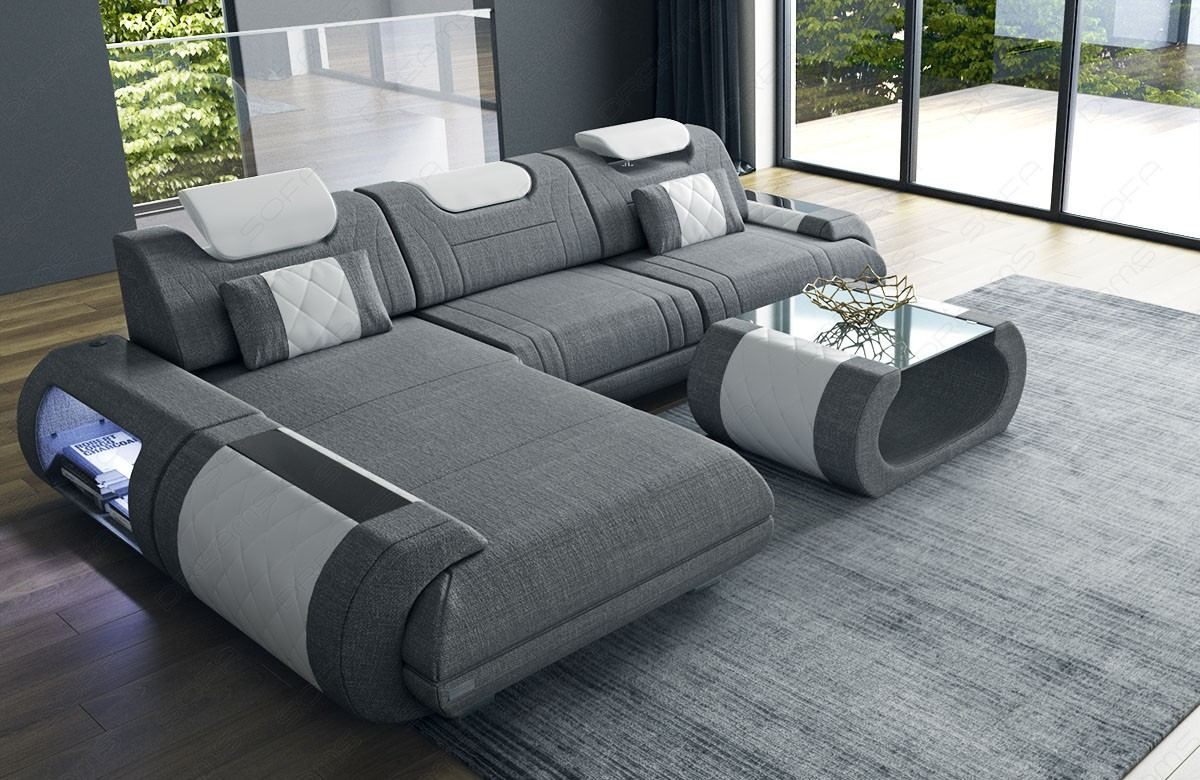 Fabric Sectional Sofa Ventura L Shape grey Hugo 5