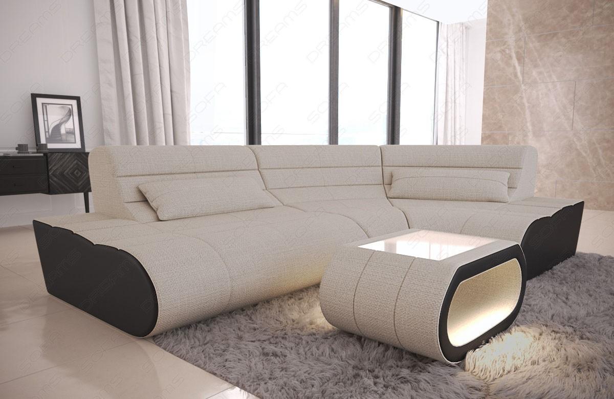 Fabric Sectional Sofa Concept Mini ivory Hugo 1