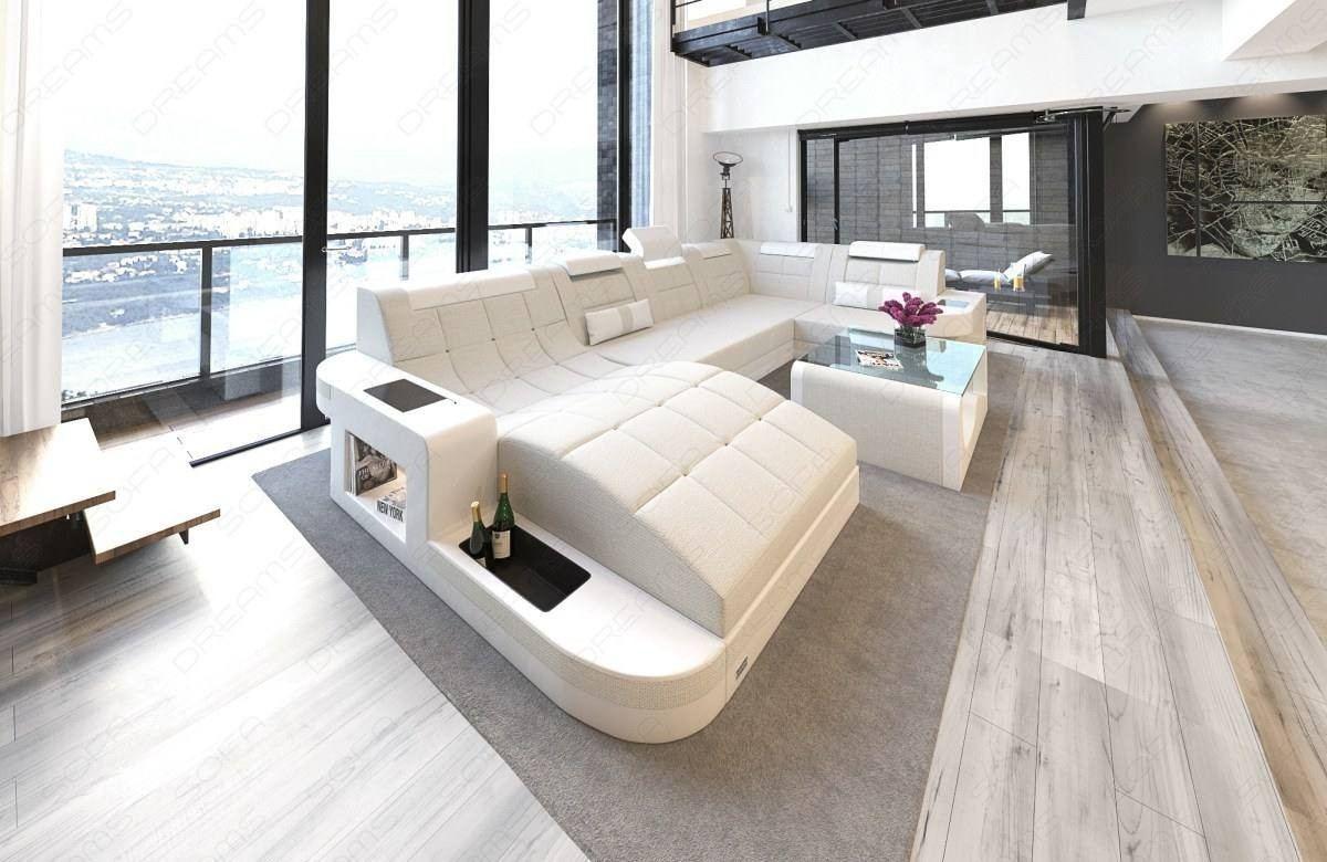 Fabric Sofa Jacksonville U Shape LED