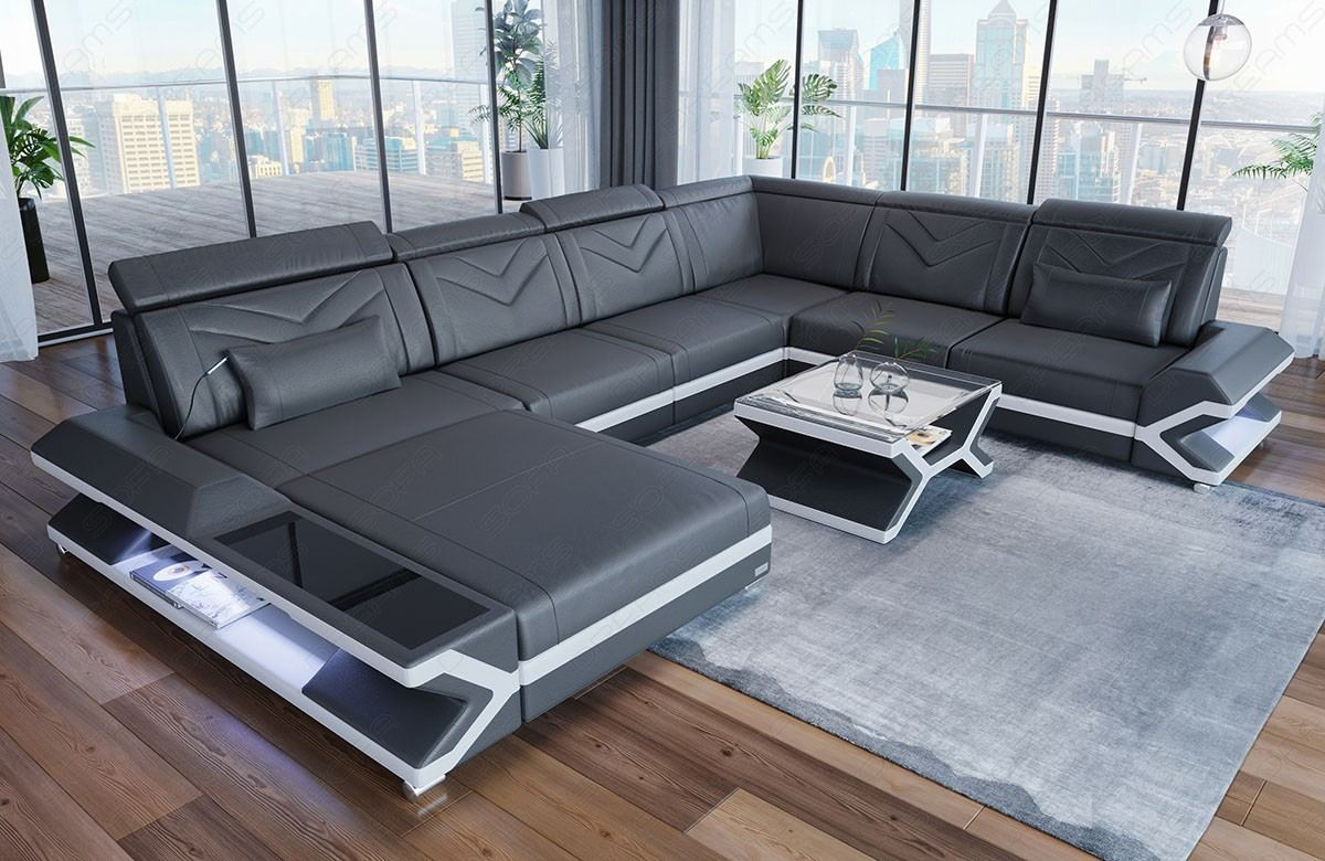 Design Sofa San Francisco XL shape in grey - white