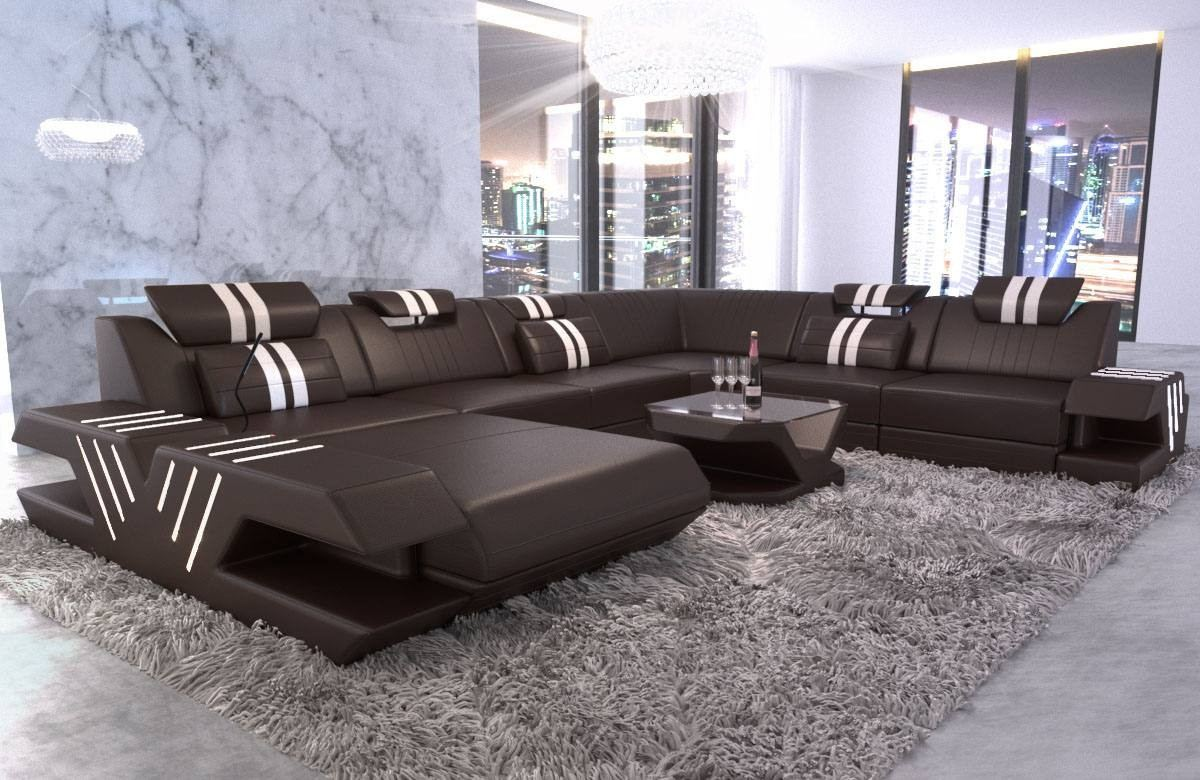 Big Sectional Sofa Beverly Hills XL Leather
