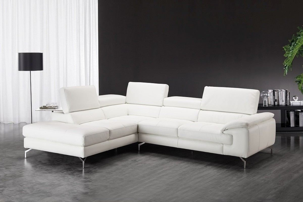 Sectional Leather Sofa Otello - white