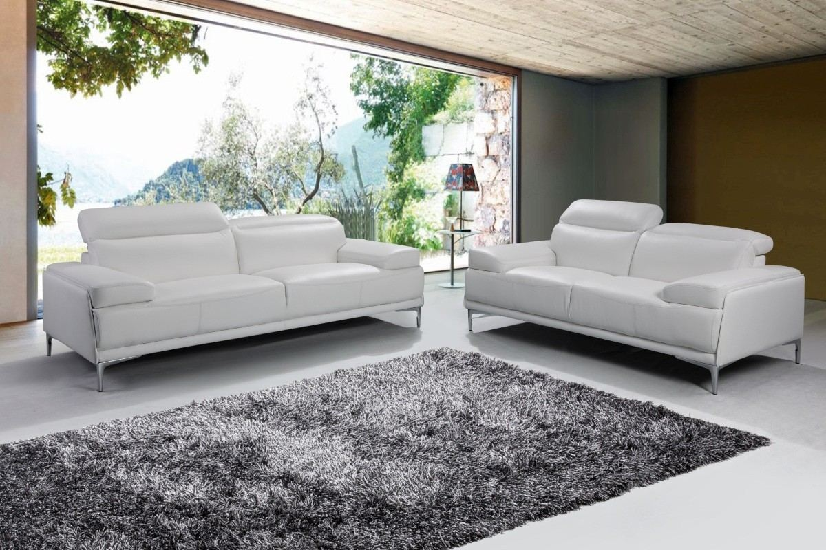Modern Sofa Set Natali white