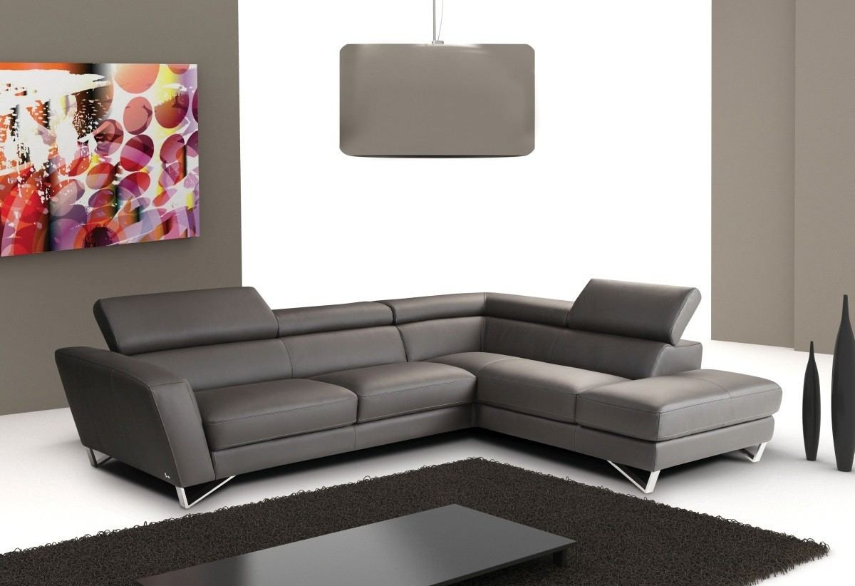 Severino Leather Sectional Sofa