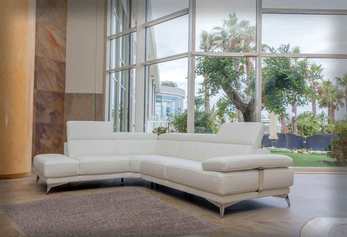 Premium Leather Sectional Vittorio - white