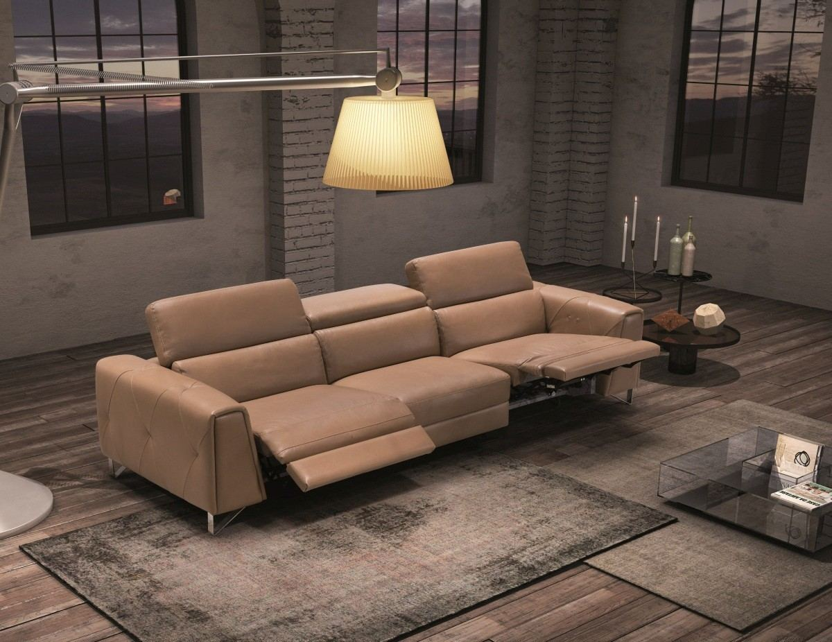 Motion Recliner 3 seater sofa Marcus - taupe