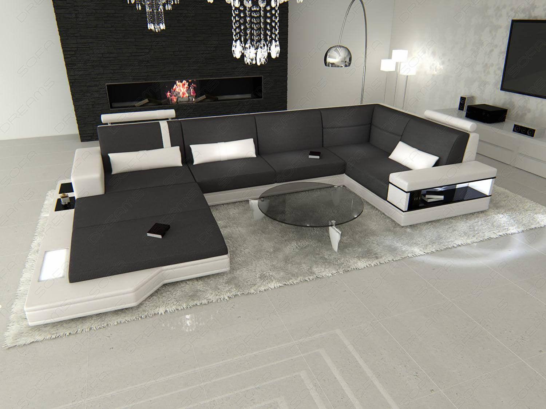 modern sectional fabric sofa dark-grey Mineva 12