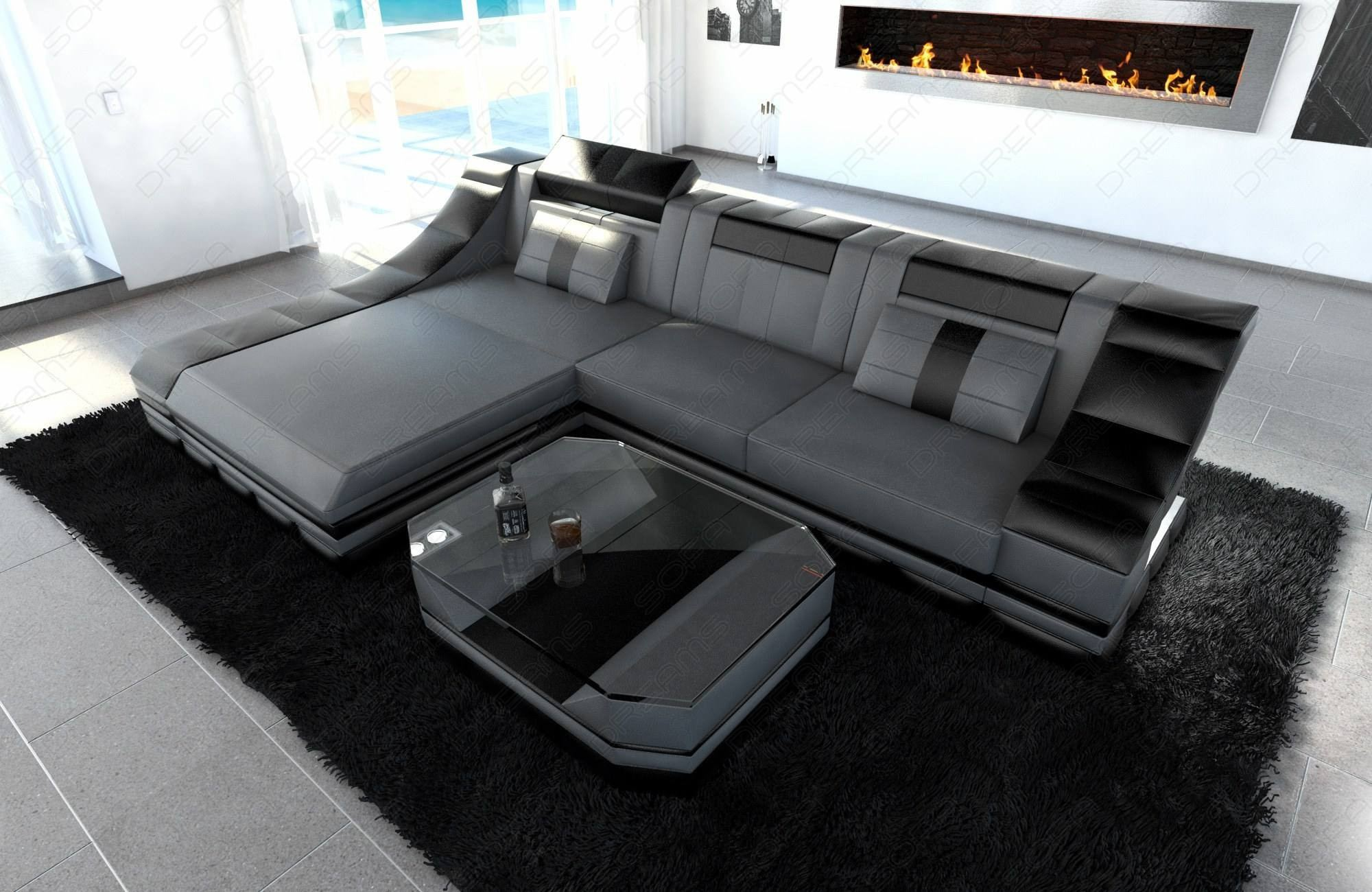 Design Sofa New York grey-black
