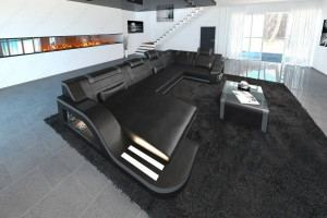 Design Sectional Sofa Detroit LED U Shape