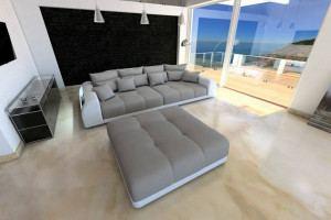 Fabric Big Sofa Miami with LED
