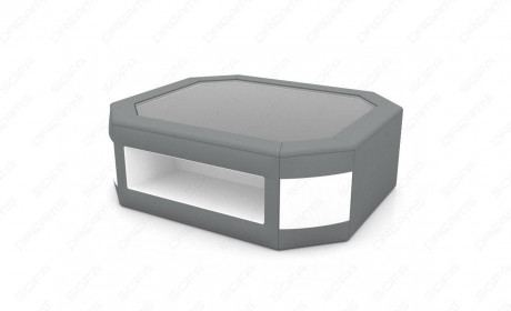 Fabric Mix Coffee Table Dallas with LED in grey-white