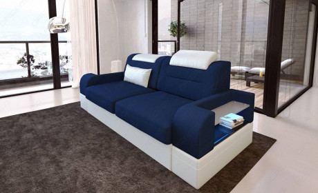 Fabric two seater Orlando blue - Mineva 17