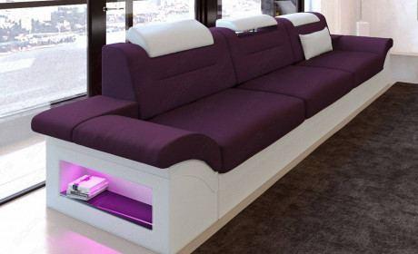 Fabric 3 seater Orlando purple - Mineva 13