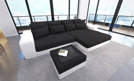 Big Fabric Sofa San Diego with LED