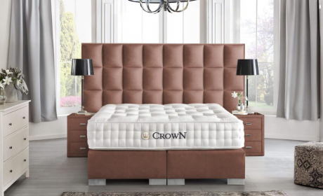 Boxspring Bed Las Vegas in synthetic leather - cooper