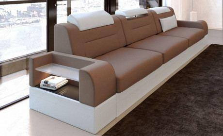 Fabric 3 seater Orlando light brown - Mineva 21