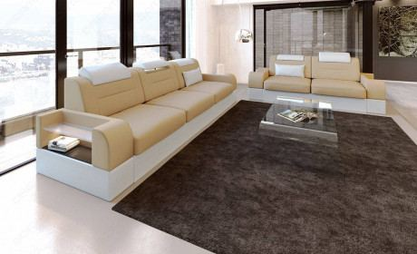 Couch set Orlando 3 and 2 seater beige - Mineva 4