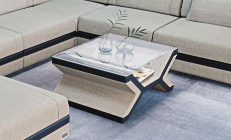 U Shaped Sofa | Fabric Coffee Tables | SofaDreams