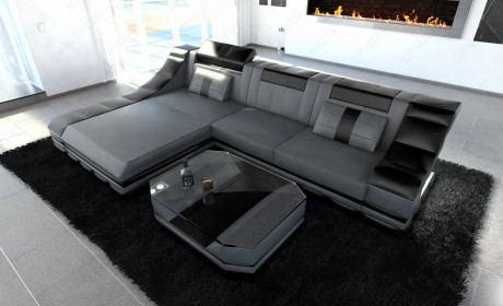 Design Sofa New York grey-black