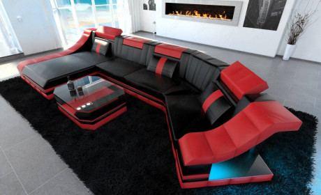 Luxury Sectional Sofa New York C Shape LED